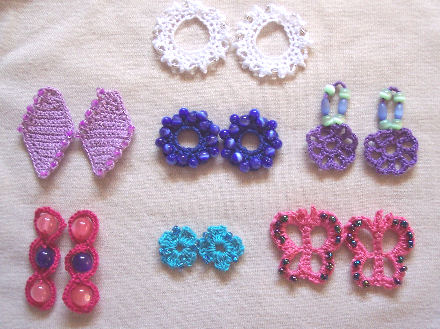 Crochet Pattern Central Free Pattern Dare To Be Different Earrings